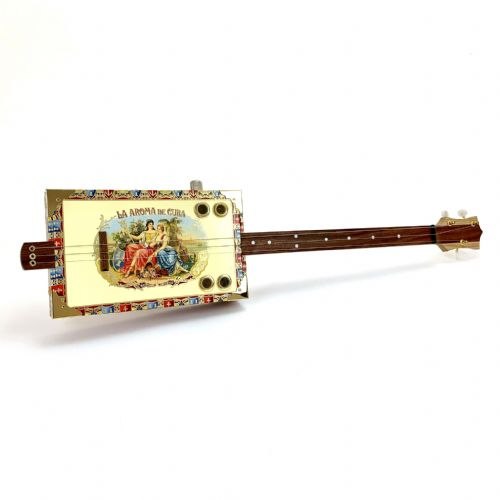 Cigar Box Guitar La Aroma 3 String Fretless Electro Acoustic Volume
